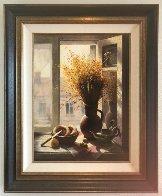 My Window With Bagel 1990 45x35 Super Huge Original Painting by Dmitri Annenkov - 3