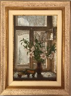 Pleasures of Winter 1990 45x35 Super Huge Original Painting by Dmitri Annenkov - 3