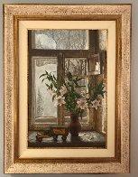 Pleasures of Winter 1990 45x35 Super Huge Original Painting by Dmitri Annenkov - 4