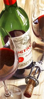 Chateau Petrus 2008 48x28 Super Huge Original Painting - Dmitri Annenkov