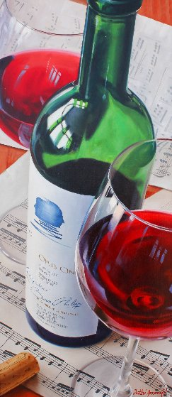 Opus One / Sheet Music 2011 47x27 Original Painting by Dmitri Annenkov