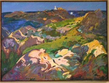 Cap De Creus, Costa Brava 2011 39x52 Original Painting - Manel Anoro