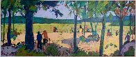 Banyoles I 1998 28x54 Original Painting by Manel Anoro - 0