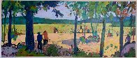 Banyoles I 1998 28x54 Original Painting by Manel Anoro - 1