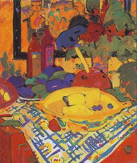 Bodegon En Mesa Rojo 1995 Limited Edition Print - Manel Anoro