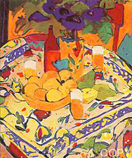 Bodegon Con Mantel 1995 Limited Edition Print by Manel Anoro