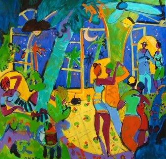 Bakata 2010 64x64 Original Painting - Manel Anoro