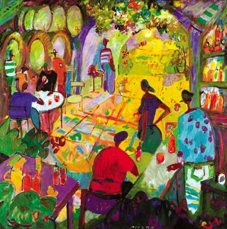 Winery #1 2010 63x63 Original Painting - Manel Anoro