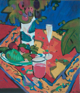 Collectors Suite of Two PP 1995 Bodegon en Rojo and Costa De Mallorca  Limited Edition Print - Manel Anoro