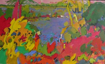 Le Bolon 2000 30x47 Original Painting by Manel Anoro