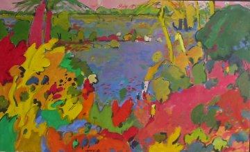 Le Bolon 2000 30x47 Original Painting - Manel Anoro