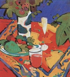 Bodegon En Rojo 1995 Limited Edition Print - Manel Anoro