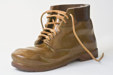 Work Boot Life Size Bronze Sculpture 2010 Sculpture by Robin Antar