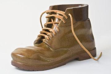 Work Boot Life Size Bronze Sculpture 2010 Sculpture - Robin Antar