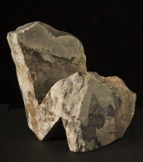 Thinker II Marble Sculpture Sculpture by Robin Antar