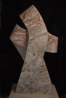 All Twisted Up Alabaster Sculpture Sculpture - Robin Antar