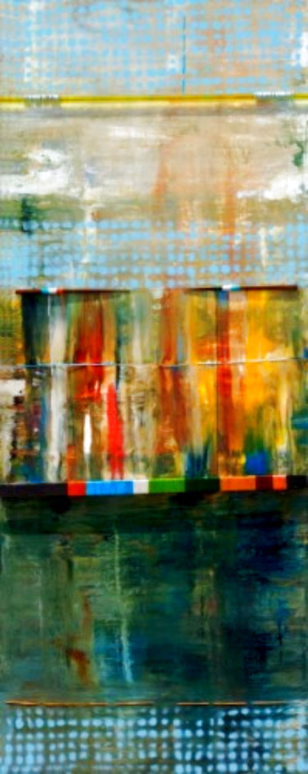 Green Pond Sings 2007 60x24 Super Huge Original Painting by Anthony  Liggins