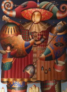Comedia Del Arte 1998 84x70 Huge Original Painting - Anton Arkhipov