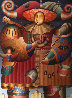 Comedia Del Arte 1998 84x70 Super Huge Original Painting by Anton Arkhipov - 0