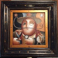 Time Keeper 2000 21x21 Original Painting by Anton Arkhipov - 2
