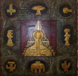 Surroundings 1993 54x54 Original Painting by Anton Arkhipov