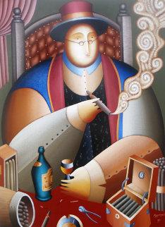 El Rei Del Mundo 1998 22x50 Original Painting - Anton Arkhipov