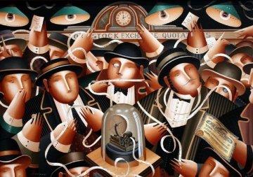 Wall Street - Stock Market 2003  Original Painting - Anton Arkhipov