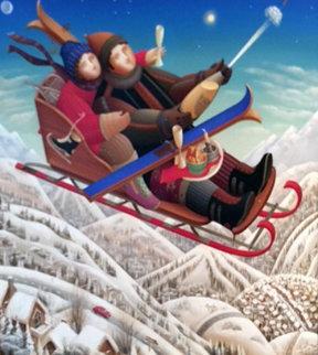 Winter Story Park City, Utah  2006 38x38 Original Painting - Anton Arkhipov