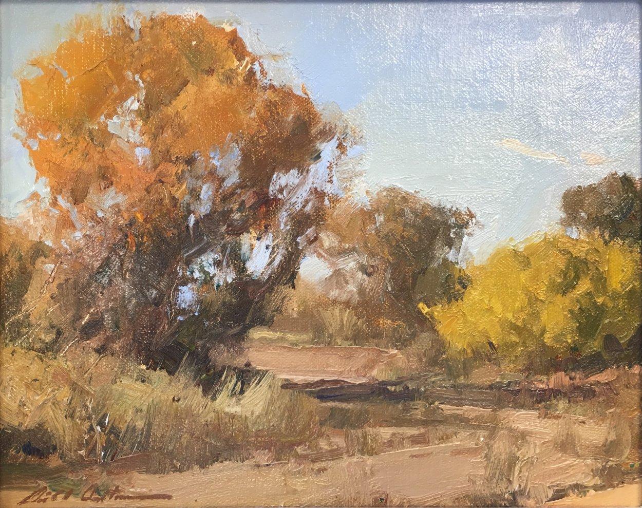 Autumn At Mint Wash 2011 13x15 Arizona Original Painting by Bill Anton