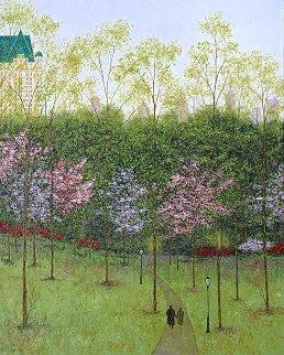 Central Park, Spring 2015  26x30 Original Painting - Patrick Antonelle
