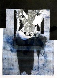 Composition Bleue  1970 42x31 Huge Limited Edition Print - Antoni Clave
