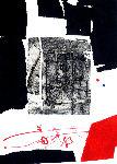 Composition Noire Et Rouge 1970  - Antoni Clave