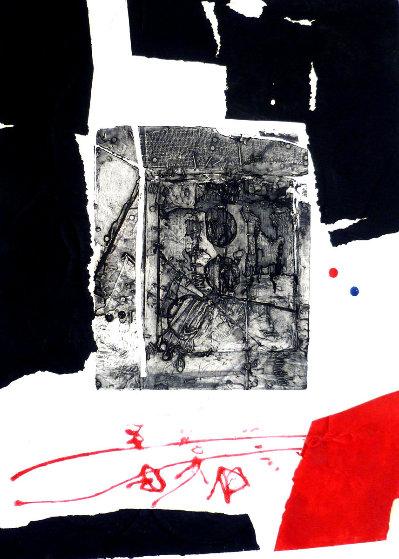 Composition Noire Et Rouge 1970  by Antoni Clave