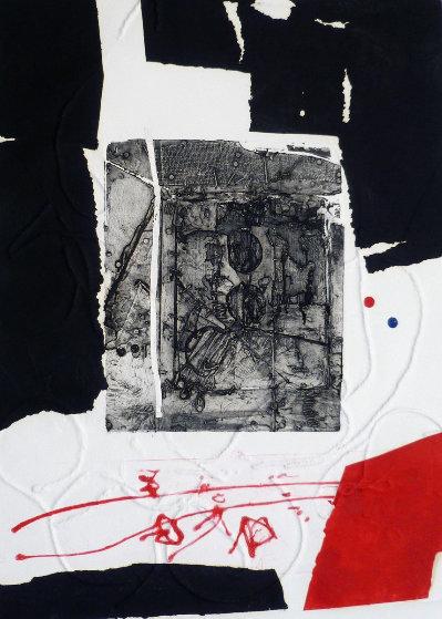 Composition Noire Et Rouge 1970 Limited Edition Print by Antoni Clave