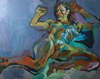 Evening Nude 2012 32x40 Super Huge Original Painting by Piotr Antonow - 1