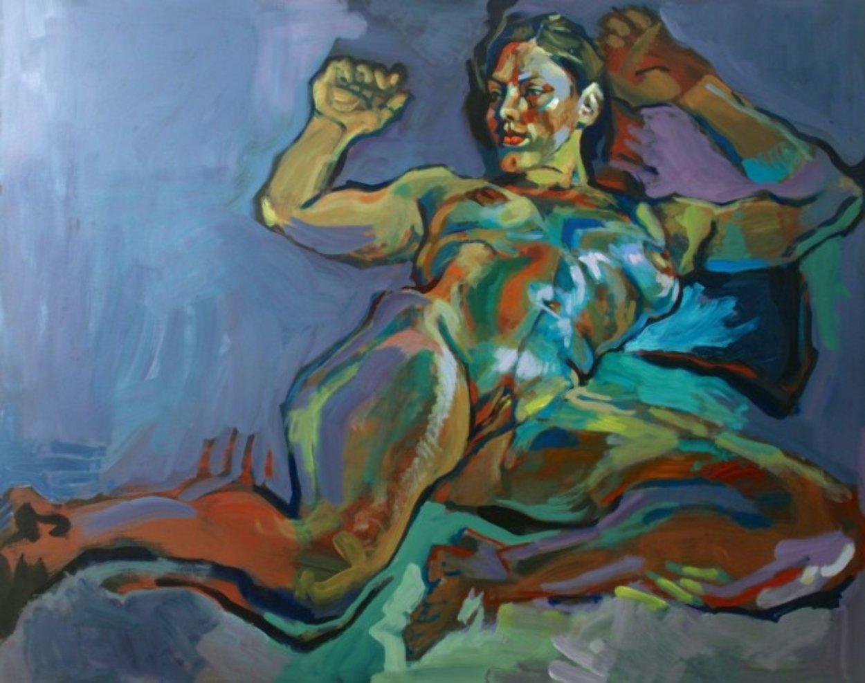 Evening Nude 2012 32x40 Super Huge Original Painting by Piotr Antonow