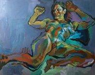 Evening Nude 2012 32x40 Super Huge Original Painting by Piotr Antonow - 0
