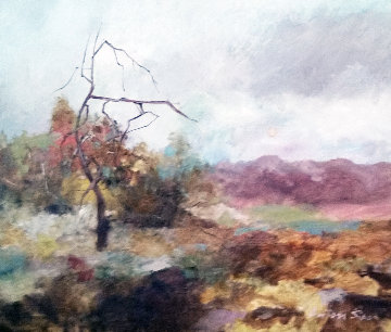 Untitled Landscape 25x29 Original Painting by Anton Sipos