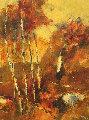 Untitled Landscape 1970 31x25 Original Painting - Anton Sipos