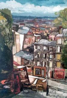 Toni, Paris 1968 35x27 Original Painting - Anton Sipos