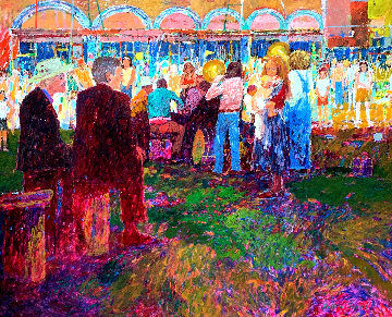 Luna Park 66x76 Huge Original Painting - Anton Sipos