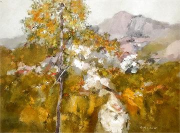 Untitled Landscape 37x49 Huge Original Painting - Anton Sipos
