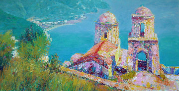 Old Chapel by the Sea 1989 30x40 Original Painting - Anton Sipos