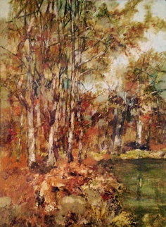 Untitled Landscape 51x39 Original Painting by Anton Sipos