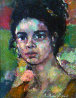 Portrait of a Girl 12x8 Original Painting by Anton Sipos - 0