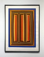 Temple of the Golden Red 1985 Limited Edition Print by Richard Anuszkiewicz - 1