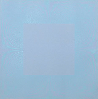 Winter Suite (Light Blue with Light Blue) 1979 Limited Edition Print - Richard Anuszkiewicz