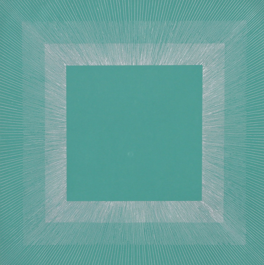 Winter Suite (Green with Silver) 1979 Limited Edition Print by Richard Anuszkiewicz