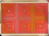 Six Squares 1969 Limited Edition Print by Richard Anuszkiewicz - 1