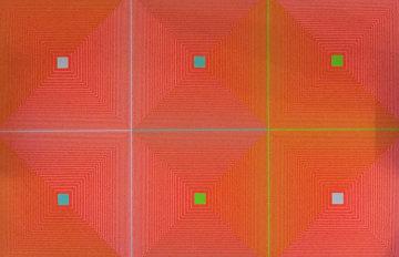Six Squares 1969 Limited Edition Print by Richard Anuszkiewicz